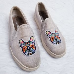 Soludos Frenchie Flats Dog Embroidered